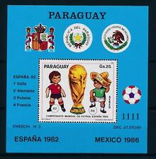 [59338] Paraguay 1984 World Cup Soccer Football Spain Mexico MNH Sheet