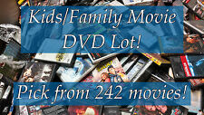 DVD Lot of Kids/Family DVDs: 242 Movies to Pick From! Buy Multiple And Save!