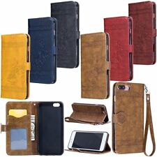 Luxury Retro Leather Skin Wallet Stand Cover Case For iPhone 5S 6 6S 7 7 Plus SE