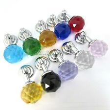 MagiDeal 30mm Modern Crystal Glass Round Pull Knobs Cabinet Drawer Door Handles