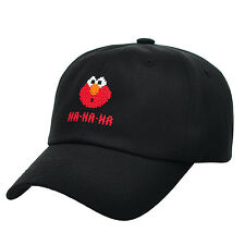 HA11.Sesame Street Elmo Cotton Baseball Cap Hat Adjustable Unisex Men Women