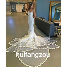 Wedding Dresses Bridal Gowns Mermaid Formal Size 4 6 8 10 12 14 16 18 Plus Strap