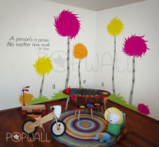 Truffula trees set of 5 Dr Seuss inspired cotton tree wall decal for nursery