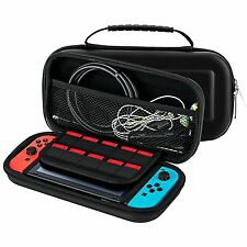 Nintendo Switch Carrying Case with 10 Game Cart Slots Double Zipper Soft Protect