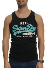 Superdry Tank Men VINTAGE LOGO DUO VEST Eclipse Navy