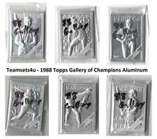 1988 Topps Gallery of Champions Aluminum Baseball Set ** Pick Your Team **