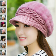 Women Knit Wool Beret Cap Baggy Slouch Warm Ladies Crochet Winter Ski Beanie Hat