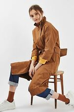 TOPSHOP *'80s Tan Funnel Neck Trench Coat* SIZE_UK6_8_10_12_14_16