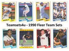 1990 Fleer Baseball Team Sets ** Pick Your Team Set **
