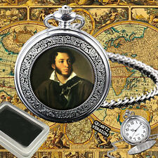 ALEXANDER PUSHKIN RUSSIAN POET POCKET WATCH GIFT ENGRAVING