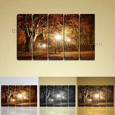Large Wall Art HD Picture Print On Canvas Modern Autumn Landscape Tree Fall