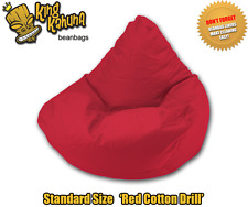 RED BEAN BAG CHAIR QUALITY NEW LARGE BEANBAG LOUNGE SOFT GAMING CINEMA THEATRE