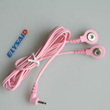 Electrode Lead Wires Jack 3.5mm 2-Pin Plug 2.0mm Connector Cables for Massager