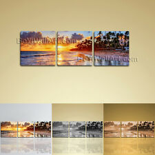 HD Wall Art Contemporary Landscape Painting Sunset Beach Picture Canvas Print