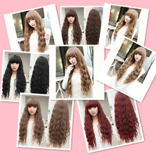 Beauty Fashion Womens Lady Long Curly Wavy Hair Full Wigs Cosplay Party FNBP