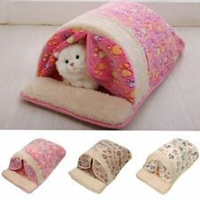 Pet Dog Cat Bed Puppy Cotton Pet Nest Sleeping Warm Cushion Pad House Hut Basket