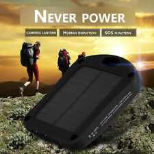 8000mAh Portable Dual USB Solar Panel Battery Charger Power Bank with LED Light