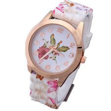 1Pcs Jelly Watch Sports Women Floral Watch Quartz Fashion New Watches Silicone