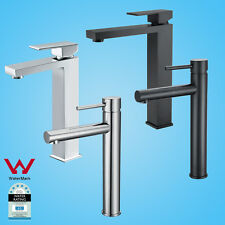 WELS Matt Black Chrome White Round Square Tall High Sink Vanity Basin Mixer Tap