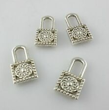 32/250pcs Tibetan Silver 9x15.5mm Small Lock Charms Pendants Jewelry Making