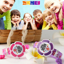 Children Student Watch Flower Pattern Wristwatch Casual Lovely Colorful Kids F7