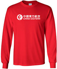 China Eastern Vintage Logo Chinese Airline Long-Sleeve T-Shirt