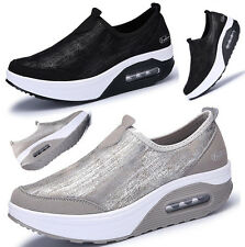 New Womens Fitness Sports Toning Shoes Platform Sneakers Shape Ups Walking Shoes