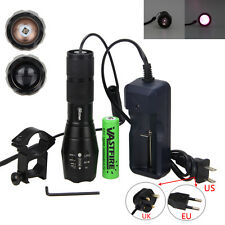 Zoom 7W IR 940nm LED Infrared Radiation Night Vision Tactical Flashlight Torch