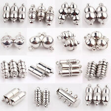 10Pcs Silver Plated Cylindrical Round Ball Strong Magnetic Clasps Hook Findings