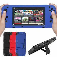 PU Leather Skin Protector Sleeve Cover Case Stand Holder for Nintendo Switch