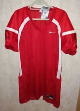 NEW Mens Sz 2XL NIKE Crack Back Game Mesh Red White Football Jersey Practice