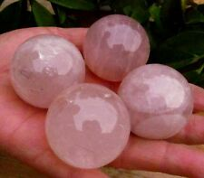 4PCS-410g-NATURAL-ROSE-QUARTZ-CRYSTAL-SPHERE-ball-Healing     4PCS-410g-NA