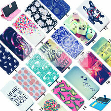 Pattern PU Wallet Magnetic Leather Purse Case 3 Card Slot Stand Cover For iPhone