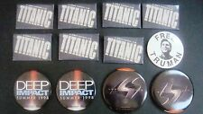 Mixed Lot Movie Button Pins, Free Truman, Lost in Space, Deep Impact, Titanic