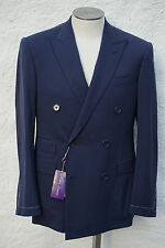 RARE NEW Ralph Lauren Purple Label Double Breasted Suit Navy US R 42 44 46 $4.5K