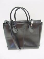 Tods Original D Bag  Princess Diana Black Leather Tote Shoulder Handbag
