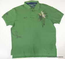 Polo Ralph Lauren Custom-Fit Printed Mesh Polo Shirt Mens LARGE Native American