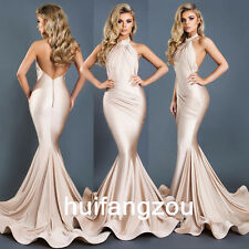 Champagne Bridesmaids Evening Dresses Formal Prom Size 4 6 8 12 14 16 18 Plus
