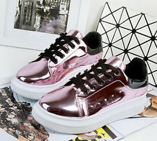 Womens Sport Shoes Sneakers patent leather Casual shoes Running Athletic Shoes