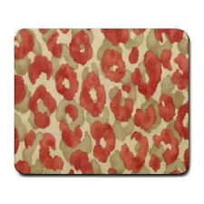 Watercolor Leopard Animal Print Red Mouse Mat Pad Mousepad