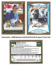 2008 Bowman Gold Draft Picks & Prospects Baseball Set ** Pick your Team **