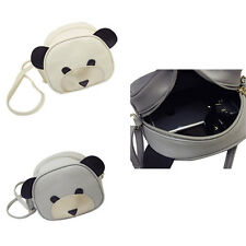 1Pcs Messenger bag Girl's Cute bear face PU Leather Handbags Women Shoulder Bag