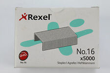 5000 x REXEL NO.16 (24/6) 6mm STAPLES. HEAVY DUTY EQUIVALENT TO REXEL NO.56 26/6