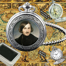 NIKOLAI GOGOL RUSSIAN WRITER QUARTZ POCKET WATCH GIFT