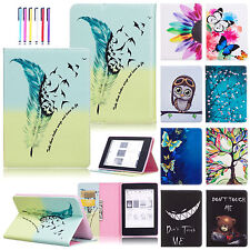 Painted Leather Cover Stand Card Wallet Case For Amazon Kindle Paperwhite 1/2/3