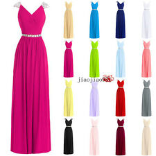Long Stock Chiffon Formal Ball Gown Party Cocktail Evening Prom Bridesmaid Dress