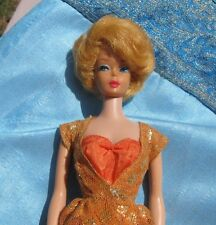 Pretty VINTAGE LEMON BLONDE BUBBLE CUT MIDGE BARBIE in Dinner at Eight, NO Green