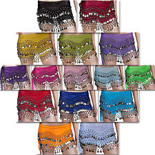 Belly Dance Hip Scarf Wrap Belt Tribal Sash Skirt Coins Performance Costume Sale