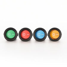 1X/4X ON/OFF LED 12V 16A DOT ROUND ROCKER SPST TOGGLE SWITCH CAR BOAT LIGHT GS
