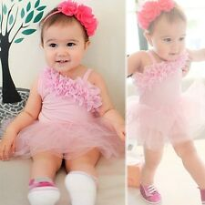 Newborn Infant Baby Girls Bodysuit Romper Jumpsuit Bodysuit Dress Clothes 0-18M